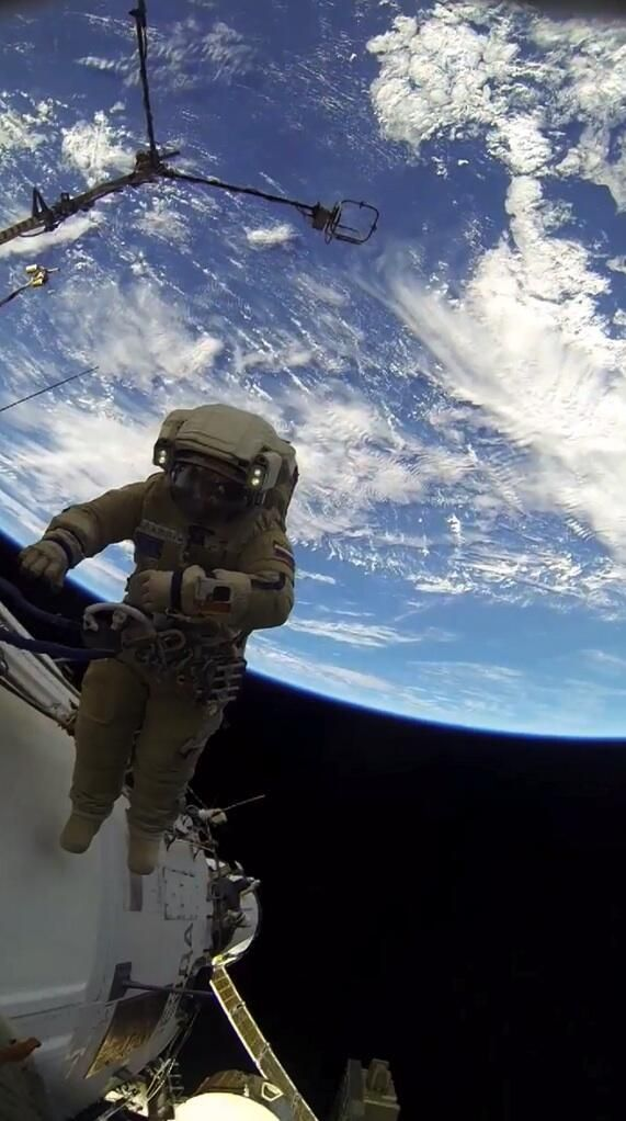 Earth on back during EVA37a