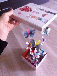 Fliegende Schmetterlinge als Geldgeschenk (beeindruckt nicht nur auf Hochzeiten).