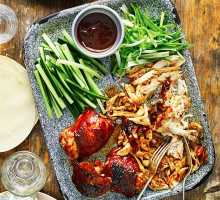 A twist on a favourite takeaway using chicken instead of duck, this dish is perfect for a Friday night in