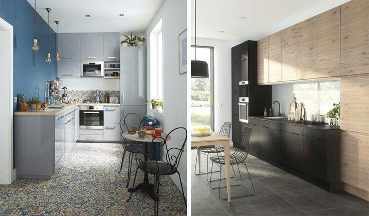 Cuisine COOKE & LEWIS Gossip (à gauche) et cuisine COOKE & LEWIS Epura (à droite).