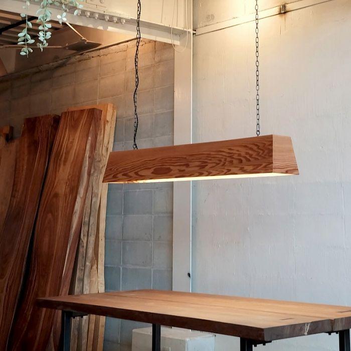 Flカバーライト テーパー 杉 オリジナル家具 金物の上手工作所