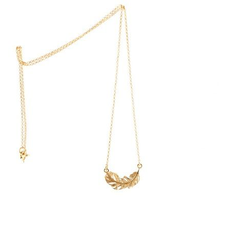 Image of MINI FEATHER CHAIN GOLD