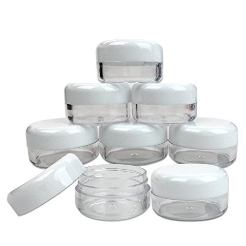 Quantity 12 Pieces Beauticom 15G15ML 05oz High Quality Clear Round Jar with White Lids for Cosmetics Medication Lab and Field Research Samples Beauty and Health Aids  BPA Free *** Be sure to check out this awesome product.