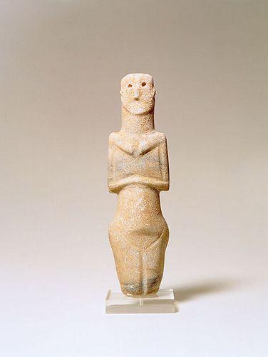 Sardinian marble female idol. Ozieri Culture C3000 B.C.E
