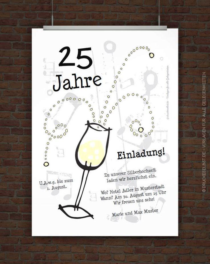 the 25+ best einladungskarten silberhochzeit ideas on pinterest, Einladungen