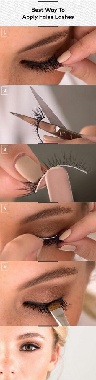 Apply false lashes lashes