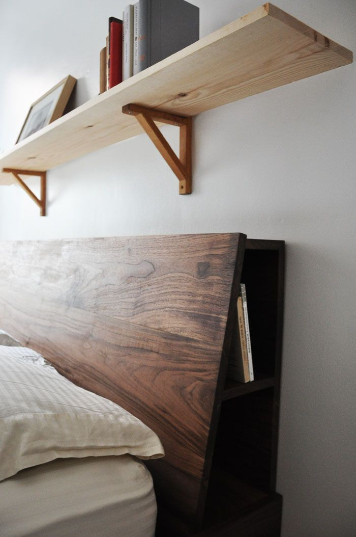 Including small book nooks (trademark pending) in the angled headboard and  under the succulent - 89 Best Bed Building Images On Pinterest Bedrooms, Home And Room