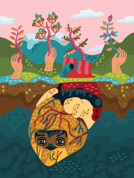 Irena Zablotska's Psychedelic Folk Drawings | Beautiful/Decay Artist & Design
