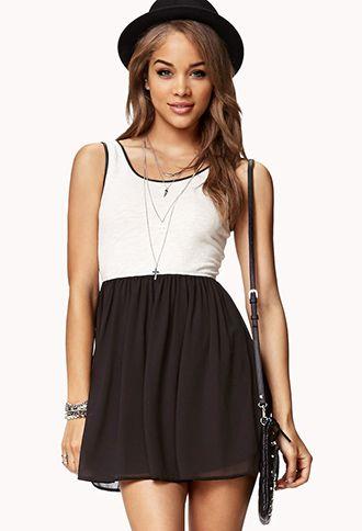 Street-Chic Combo Dress | FOREVER21 - 2075571277