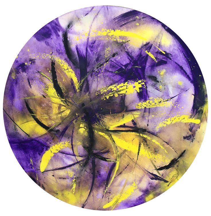 Acrylic on canvas - 1:15 mt diámetro Cel: (57) 313 432 7154 Fijo: 460 12 45