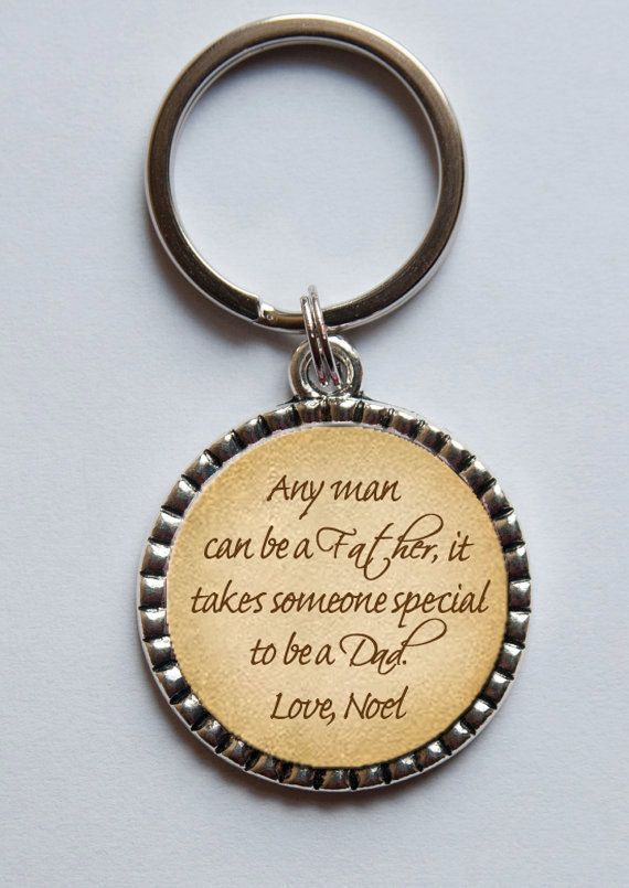 Personalized Key Chain for Dad, Custom Keychain, Father's Day Gift, Father of the Bride, Father of the Groom, Gift from Son or Daughter on Etsy, $13.95
