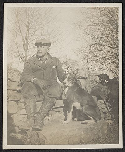 William Anderson Coffin with dog