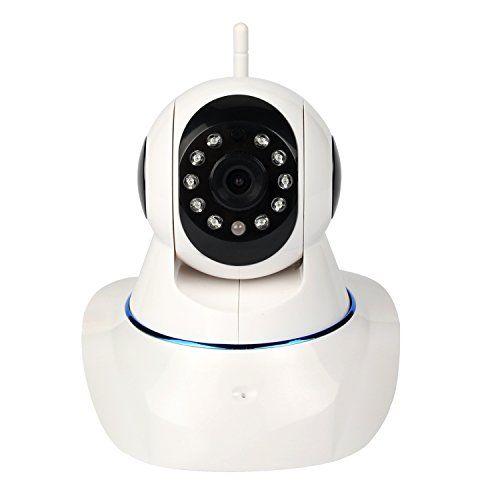 IP Kamera, MixMart 720P Wireless Innen Kamera WiFi Sicherheitskamera �berwachungskamera (HD 1280x720p, Tag/Nachtsicht, Gegensprechfunktion, WLAN, Pir-Sensor, Schwenkbar, SD Karte)