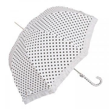 Štýlový bodkovaný dáždnik môžete nájsť u nás v e-shope: http://www.carovny-domcek.sk/modnedoplnky/kabelky/dazdnik-biely-bodky