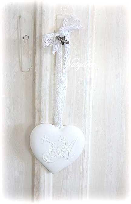 Coeur en plâtre NATYDECO  En vente sur mon site http://www.natydecocorse.com