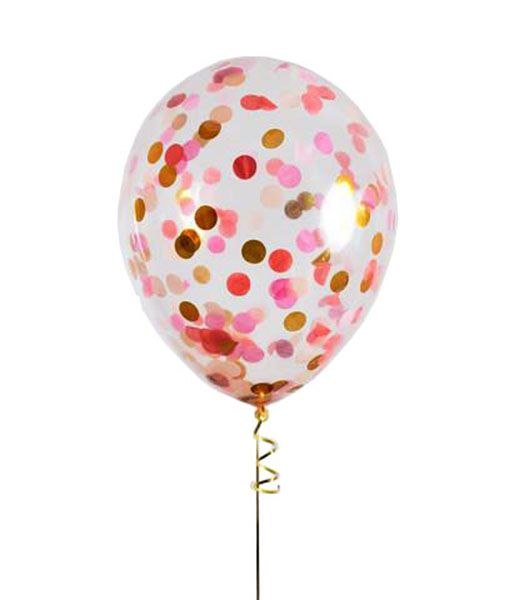 Confetti balloon! #confetti #balloon #confettiballoons #decoration #decorationideas #decorationmariage #marriage #christening #party #pink #gold