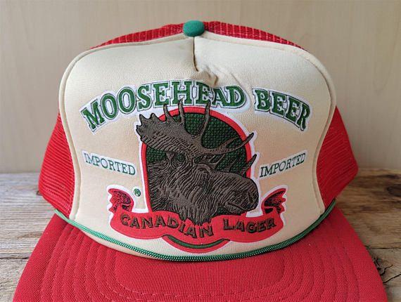 MOOSEHEAD BEER Imported CANADIAN Lager Vintage Trucker Hat