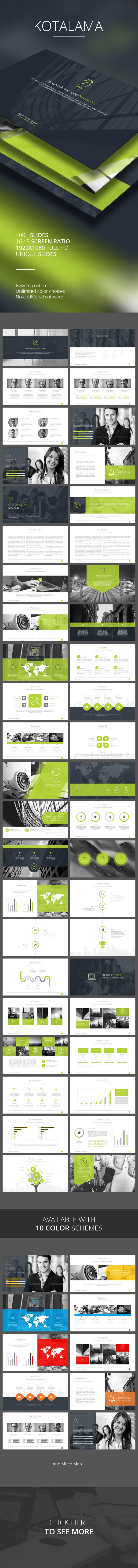 Kotalama PowerPoint Template #design #slides Download: http://graphicriver.net/item/kotalama-powerpoint-template/12647310?ref=ksioks