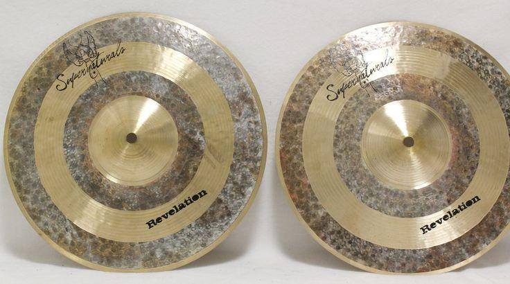 """Supernatural Revelation Top 719 Bottom 13"""" Hi Hat Cymbal Symbol Pair Drum Set Hihat #Supernatural #hihat #cymbal #drum #set #sale"""