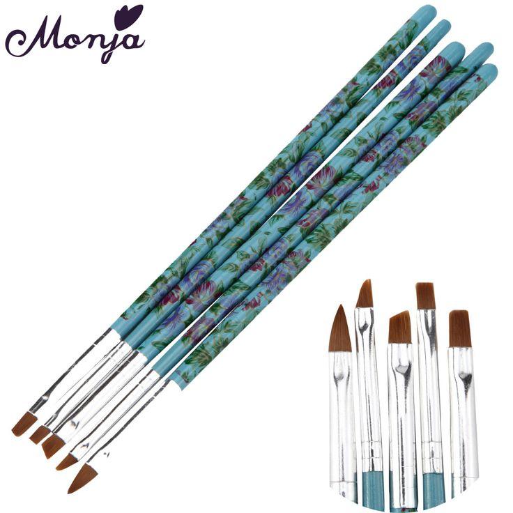5Pcs Nail Art Brushes Design Painting Drawing Liner Tool Pen Polish Acrylic UV Gel Builder Brush Set Kit DIY Nails Tools