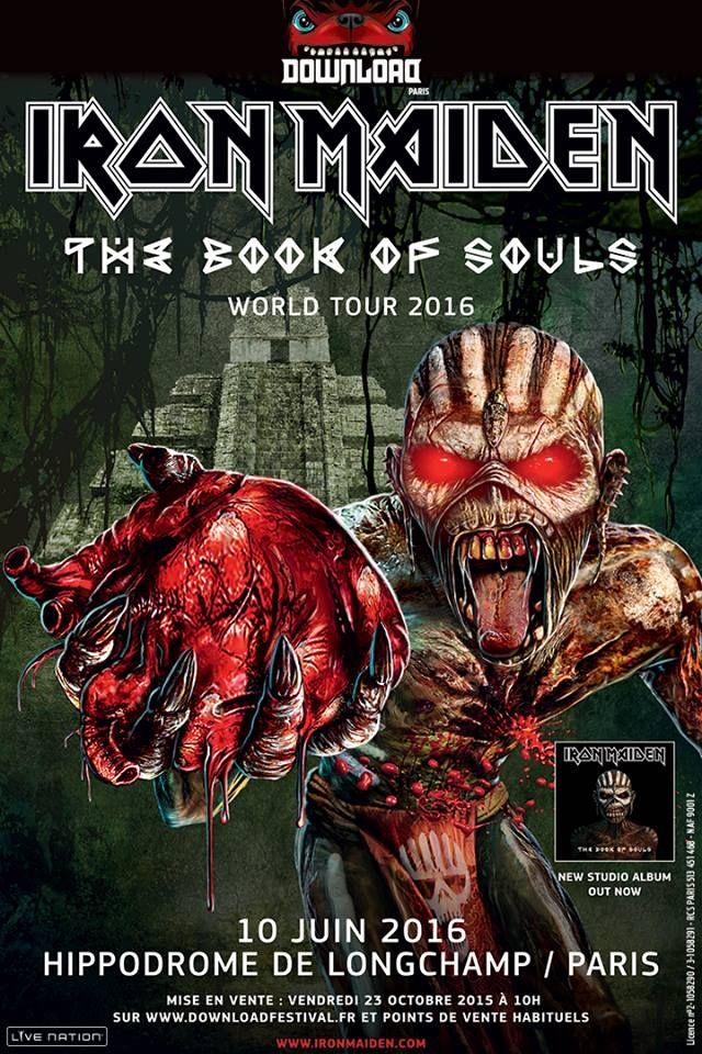 Actus Métal & Rock du 20 octobre 2015 - Iron Maiden : Download Festival