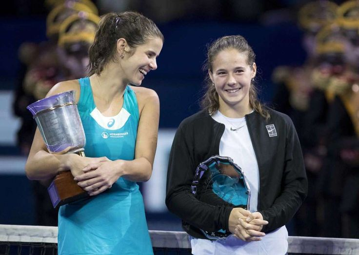 Germany dominated this weekend..  Kremlin Cup Winner Julia Goerges of Germany, left, and second placed Daria Kasatkina of Russia talk... Goerges ends 6-year title wait with victory at Kremlin Cup ...  CTPost-