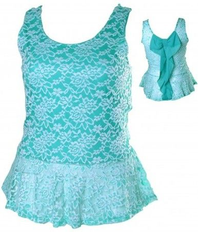 Click here to purchase - Green and White Lace Peplum Top - Size 14, 16 and 18 - City Style Chic: http://www.citystylechic.com.au/new-arrivalsgreen-and-white-lace-peplum-top $35.50 AUD (free shipping within Australia)