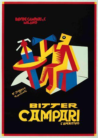 Fortunato Depero, Campari Ad. (1928)