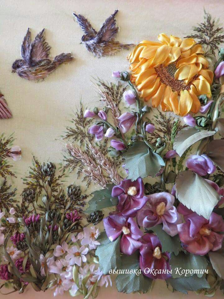 Silk flower sparrow