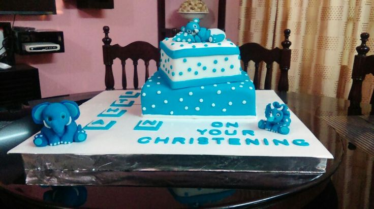A Baptism cake made for little  Ethan on   his Christening day!