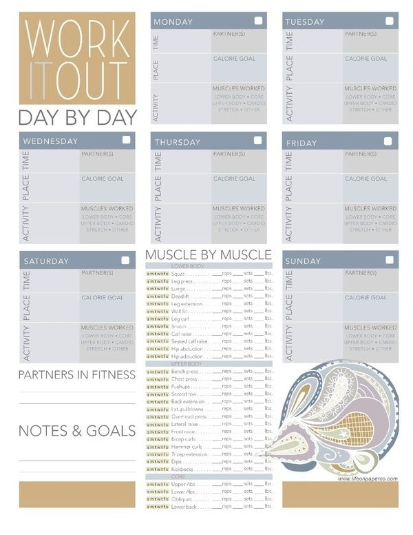 22 best Projects to Try images on Pinterest 6 week workout plan - gym workout sheet