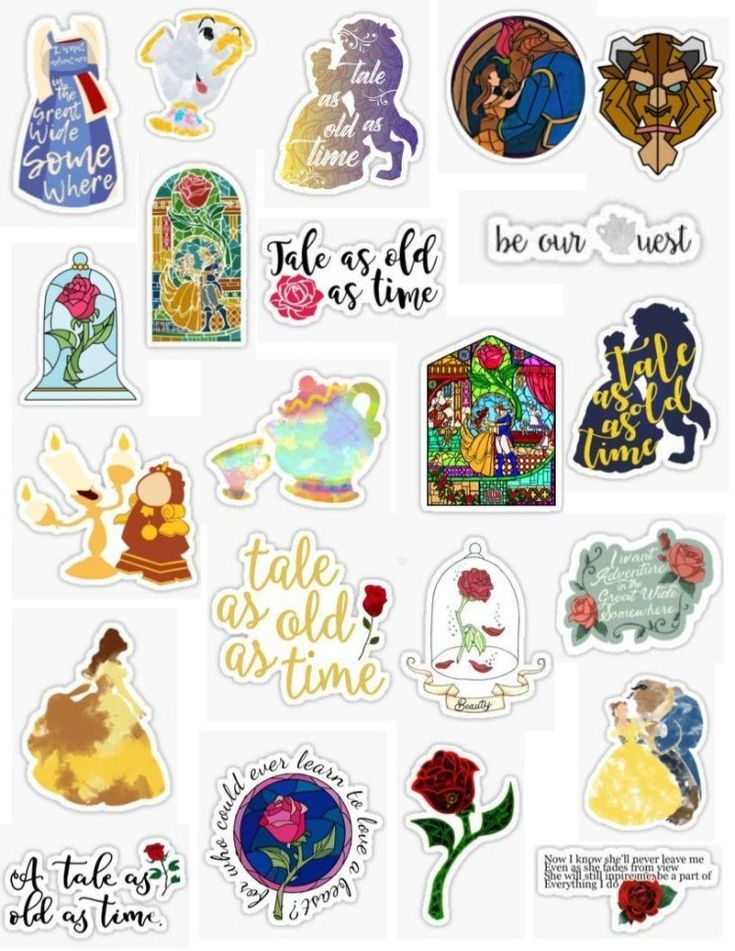 Beauty and the Beast Stickers – Blue Iphone 7 Plus…