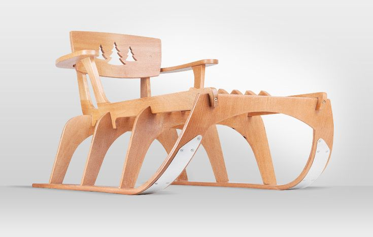 Give your child a beautiful, strong and fast wooden sled made from natural materials!