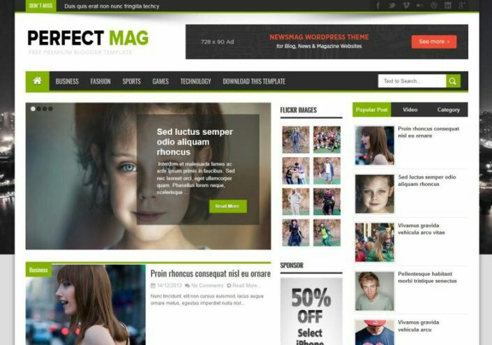 Perfect Mag News Blogger Template Free Download In 2020 Free Blogger Templates Blogger Templates Blog Templates Free