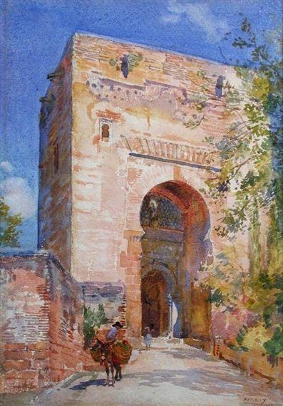 George Owen Wynne Apperley - The Gate of Justice, Alhambra