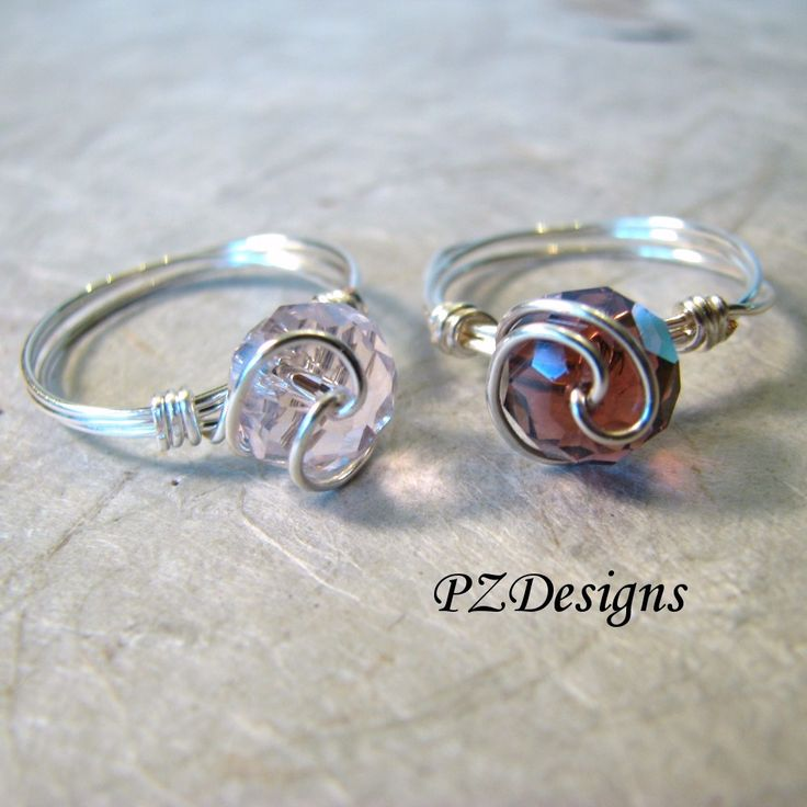 Free Time Crafts: DIY: Simple Wire-Wrapped Ring Tutorials - this is inspiration using a rondelle