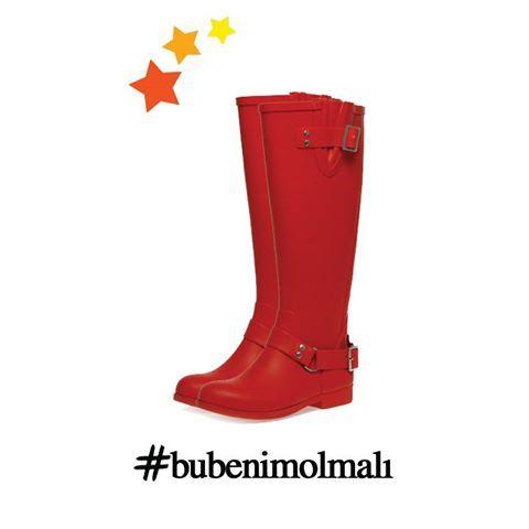 Kış sezonunun vazgeçilmez kurtarıcısı çizmeler, kırmızı rengi ile haftanın favorisi! #love #fashion #style