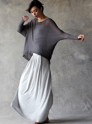 Eileen Fisher, Eileen Gray, Clothing, Grey Tee, Long Skirts, Maxis Dresses, Comfy Casual, Eco Fashion, Maxis Skirts