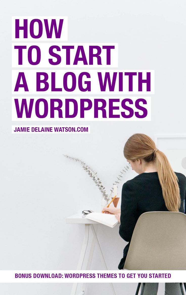 How to Start a Blog with WordPress in Under 5 Minutes: PLUS a free bonus download of some amazing inexpensive wordpress themes to get you started! http://jamiedelainewatson.com/how-to-start-a-blog-with-wordpress/