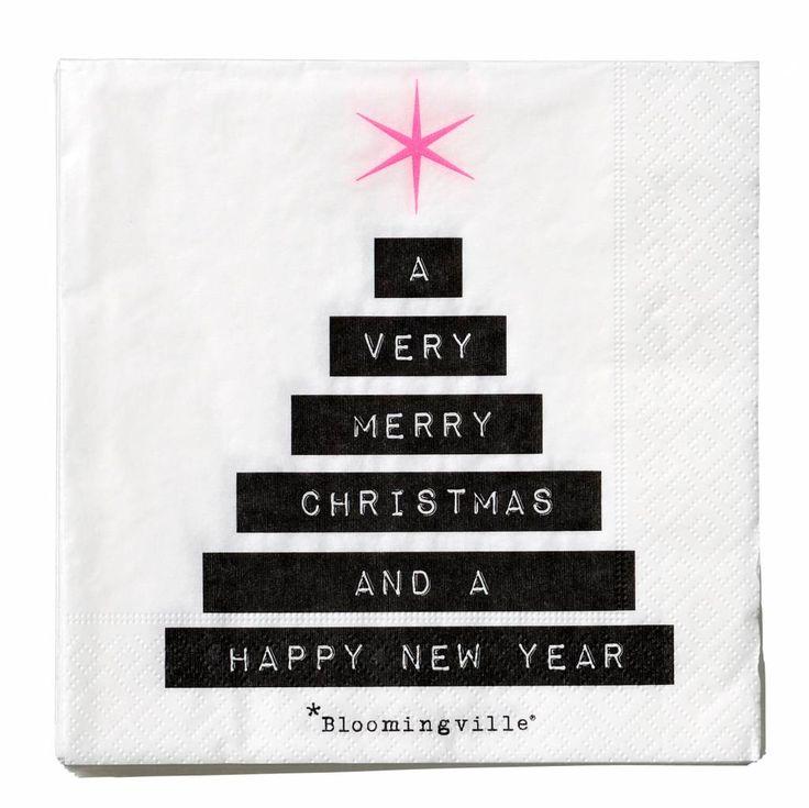 Bloomingville kerst servetten mery christmas #hebben
