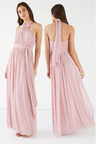 15edc7bf4ae743 Pink Lipsy Bella Bandeau Multiway Maxi Dress | Bridemaid dresses in ...