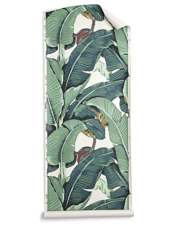 Martinique wallpaper, designed for the Beverly Hills Hotel. Someday this will be mine.