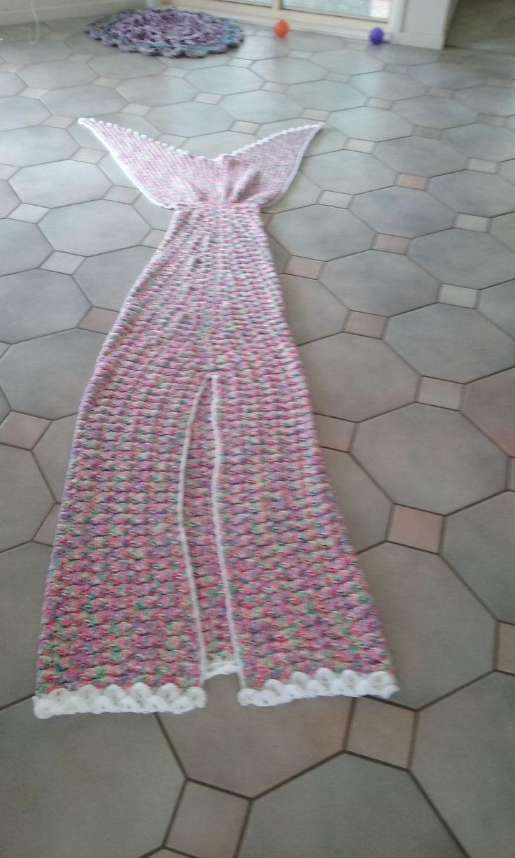 Elaine's Mermaid Blanket  Back iew