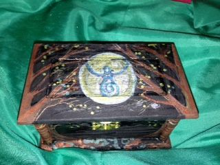 Dot Wasilewski's Goddess Magic Boxes- handpainted  Can be used for Ritual, or just as a memory or jewellery box