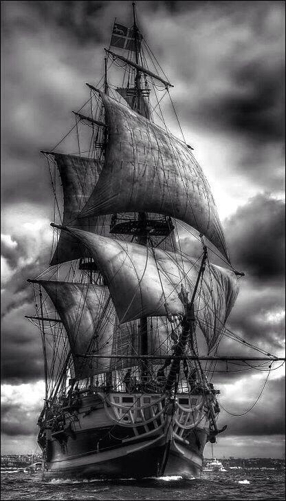 tall ship under sails