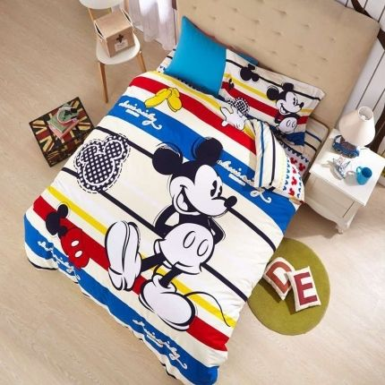 Mickey Mouse Cartoon Bedding Set ( Many Sizes )