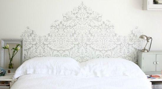 hoofdeind bed behang
