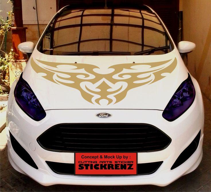 Car Custom Hood Cutting Sticker Concept - Fiesta 003
