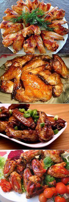 Куриные крылышки: 6 рецептов на любой вкус.