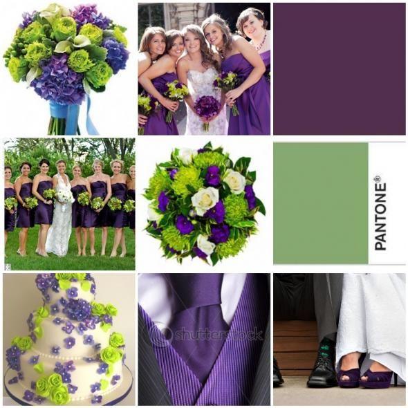 purple green wedding i